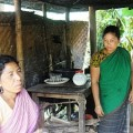 Garo tribal women take a tea break from forest patrol. Credit: Naimul Haq