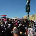 Female protesters hit streets in thousands to protest abuse of women by Egyptian military police (Nov 2011) Credit: Khaled Moussa al-Omrani