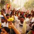 HIV positive people in New Delhi demonstrate for access to cheap generic drugs. Credit: Mudit Mathur/IPS
