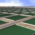 A digital rendering of algae-ethanol production pools planned by Mexico. Credit: IPS  