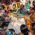 A women-led village council prepares a social map of the local community. Credit: Naimul Haq/IPS