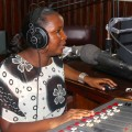 Laila Mutebi, 26, is the voice of Evening Voyage, on Uganda's 101.7 Mama FM. It claims to be Africa's first women's radio station. Credit: Amy Fallon/IPS