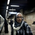 Basma co-founder Nihal Saad Zaghloul in the Cairo metro, where she held the first awareness campaigns. Credit: Courtesy of Magali Corouge/Documentography