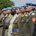 Some of the 43 military and police officers from 27 countries who received peacekeeping medals from Jean-Marie Guéhenno, Under-Secretary-General for Peacekeeping Operations. Credit: UN Photo/Eskinder Debebe